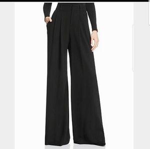 NWT Alice + Olivia Silk High Waist Black Pants